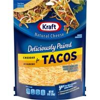 Kraft Cheddar & Asadero Shredded Cheese with Taco Seasoning for Tacos