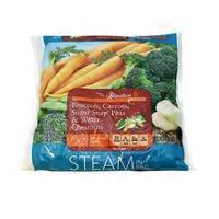 Signature Farms Steam In Bag: Broccoli Carrots Sugar Snap Peas & Water Chestnuts