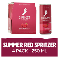 Barefoot Summer Red Wine 4 Single Serve Cans
