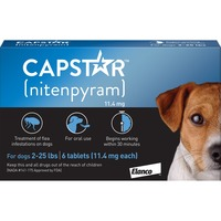 Capstar Flea Tablets for 2 to 25 Pounds Body Weight Dogs
