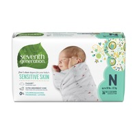 Seventh Generation Baby Diapers Size Newborn, Up To 10 Lbs