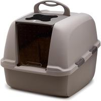 Catit Jumbo Grey Hooded Cat Litter Pan