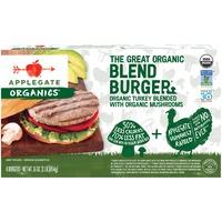 Applegate The Great Organic Turkey & Mushroom Blend Burger