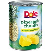 Dole in 100% Pineapple Juice Pineapple Chunks