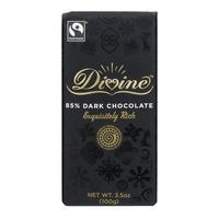 Divine Chocolate Bar 85% Dark Chocolate Exquisitely Rich