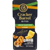 Cracker Barrel Vermont Sharp White Cheddar & Gouda Cheeses with Mini Pretzels