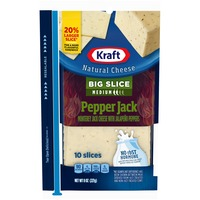 Kraft Big Slice Pepper Jack Medium Cheese Slices