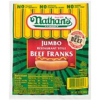 Nathan's Famous Jumbo Restaurant Style Beef Franks
