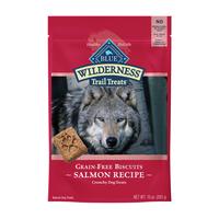 Blue Buffalo Wilderness Trail Treats High Protein Grain Free Crunchy Dog Treats Biscuits, Salmon Recipe