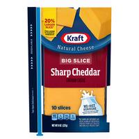Kraft Big Slice Sharp Cheddar Cheese Slices