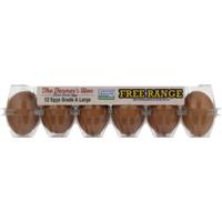 The Farmer's Hen The Farmers Hen Eggs, Free Range, Large, Carton
