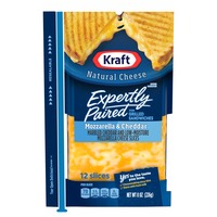 Kraft Mozzarella & Cheddar Cheese Slices for Grilled Cheese Sandwiches