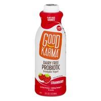 Good Karma Diary Free Probiotic Drinkable Yogurt Strawberry