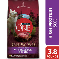 Purina ONE High Protein, Natural Dry Dog Food, True Instinct With Real Beef & Bison