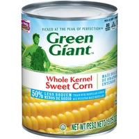 Green Giant 50% Less Sodium Whole Kernel Sweet Corn