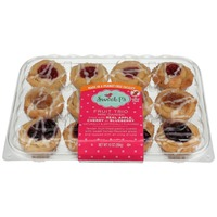 Sweet P's BAKE SHOP FRUIT TRIO MINI DANISH with APPLE, CHERRY or BLUEBERRY filling