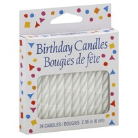 American Greetings Small White Spiral Birthday Candle