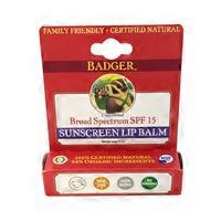Badger Unscented Broad Spectrum SPF 15 Sunscreen Lip Balm