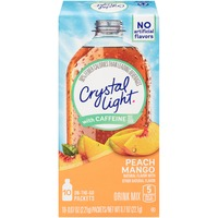 Crystal Light with Caffeine On-the-Go Peach Mango Drink Mix