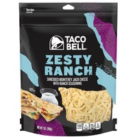 Taco Bell Zesty Ranch Monterey Jack Shredded Cheese with Ranch Seasoning
