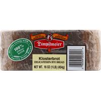 Dimpflmeier Bread, Delicatessen Rye, Klosterbrot