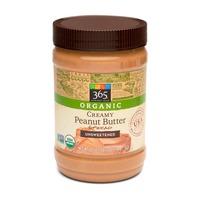 365 Organic Unsweetened Creamy Peanut Butter