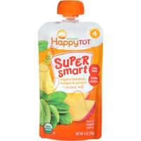 Happy Tot Organics Super Smart Bananas Mangos & Spinach + Coconut Milk Fruit & Veggie Blend