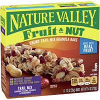 Nature Valley Chewy Trail Mix Granola Bar, Fruit and Nut, 12 Bars