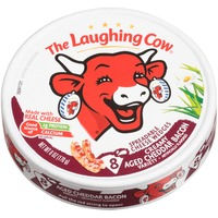 The Laughing Cow Creamy Aged Cheddar Bacon Spreadable Cheese Wedges