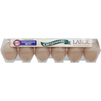 Eggland's Best Organic Cage Free Grade A Brown Eggs Large