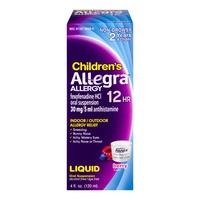 Children's Allegra Allergy 12HR Liquid Berry Flavor
