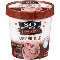 So Delicious Dairy Free Coconutmilk Oregon Mixed Berry Frozen Dessert