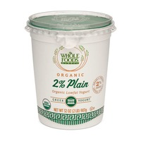 Whole Foods Market Organic Plain Reduced Fat 2% Greek Yogurt