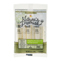 Nature's Promise Organic String Cheese Mozzarella - 6 CT