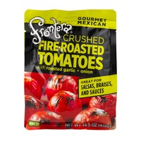 Frontera Crushed Fire-Roasted Tomatoes with Roasted Garlic + Onion Mild