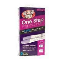 Western Family One Step Pregnancy Test