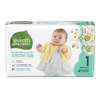 Seventh Generation Free & Clear Stage 1 (8-14 lb) Baby Diapers