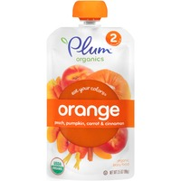 Plum Organics Stage 2 Orange Peach Pumpkin Carrot & Cinnamon Organic Baby Food