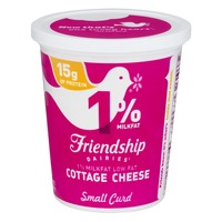Friendship Dairies 1% Milkfat Lowfat Cottage Cheese Small Curd