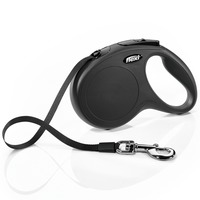 Flexi 16' Medium/Large Black Classic Tape Dog Leash