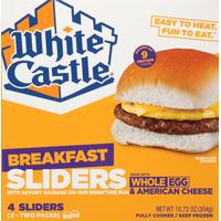 White Castle Breakfast Sliders, Whole Egg & American Cheese