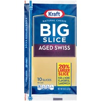 Kraft Natural Slices Big Slice Aged Swiss Slices Cheese