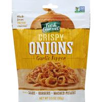 Fresh Gourmet Crispy Onions, Garlic Pepper