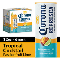 Corona Refresca Passionfruit Lime Spiked Tropical Cocktail Cans