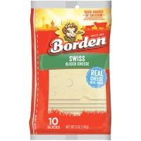 Borden Swiss Sliced Cheese