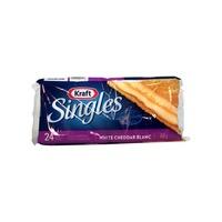 Kraft White Cheddar Singles Cheese Slices