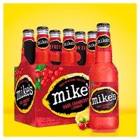 Mike's Hard Lemonade Beer, Malt Beverage, Premium, Hard Cranberry Lemonade