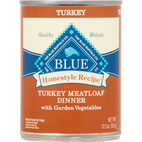 Blue Food for Dogs, Natural, Turkey Meatloaf Dinner with Garden Vegetables