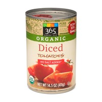 365 Organic No Salt Added Diced Tomatoes