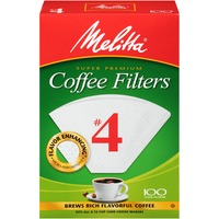 Melitta White Paper #4 Size Cone Coffee Filters